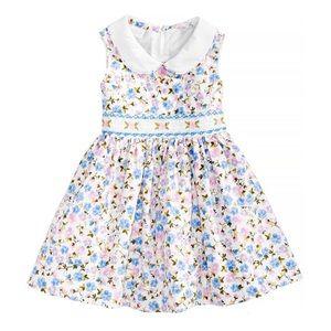 Like new Bonnie Baby blue & pink smocked dress 24M